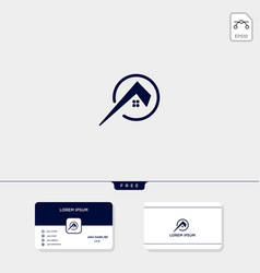build architect real estate logo template and vector image
