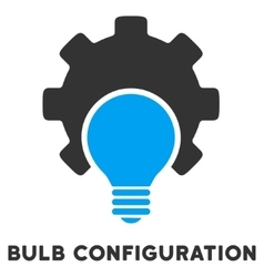 Bulb Configuration Flat Icon with Caption vector