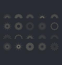 burst sun starburst with light ray sunburst vector image