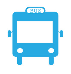 bus icon flat design style on white background vector image