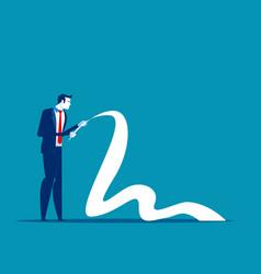 businessman reading long paper list concept vector image