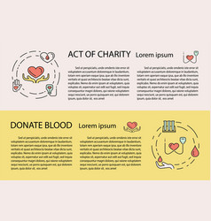 charity and donation banner vector image