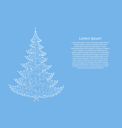 christmas tree from abstract futuristic polygonal vector image