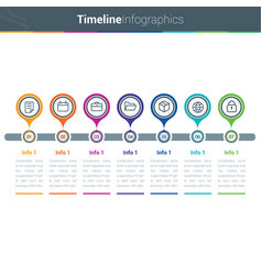 clean and colourful timeline vector image