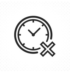clock with cross icon vector image
