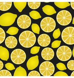 colorful lemon fruits and half fruits seamless vector image