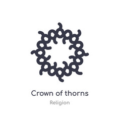 Crown thorns icon isolated crown thorns vector
