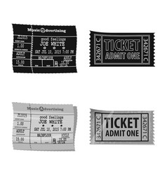 Design of ticket and admission icon vector