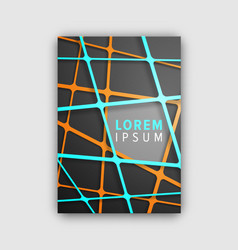 designed cover pattern on vector image