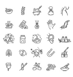 different kinds of medicine vector image