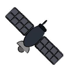 Drawing satellite telecommunication transmitter vector