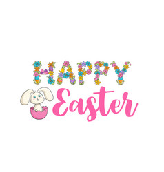 easter christian church festival card with cute vector image
