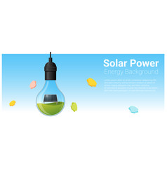 energy concept background with solar panel vector image