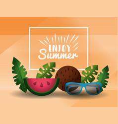 enjoy summer vacations vector image