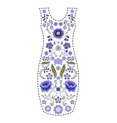 fashion dress template traditional russian vector image