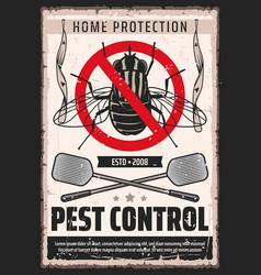 Flies pest control flypaper desinsection service vector
