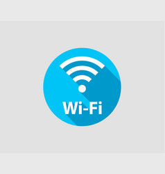 free wifi icon connection zone wifi symbol radio vector image