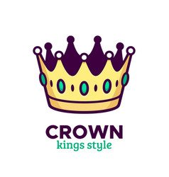golden crown icon or logo design vector image vector image