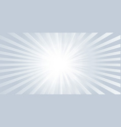 gray glow shiny banner with rays bursting out vector image