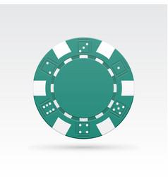green casino chip vector image