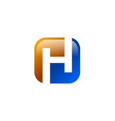 h letter logo vector image