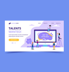 hiring landing page concept for vector image