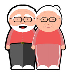 isolated grandparents icon vector image