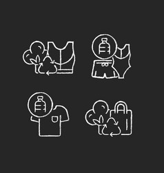 Lessening impact on environment chalk white icons vector