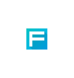 letter f logo icon design vector image