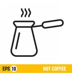 Line icon hot coffee vector