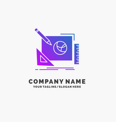 logo design creative idea design process purple vector image
