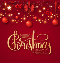 merry christmas shining holiday background with vector image