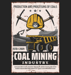 Mining industry extraction coal vector