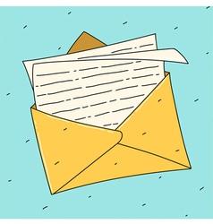 Open letter vector image