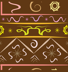 pattern diversity of the universe chocolate vector image