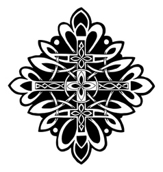 pattern with a cross in the Celtic style vector image