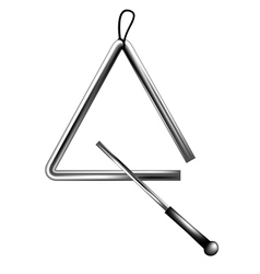 Percussion triangle vector