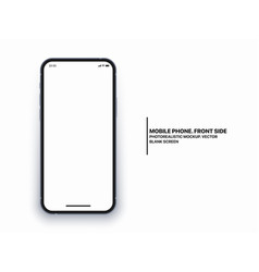 photo realistic mobile phone iphone mockup vector image