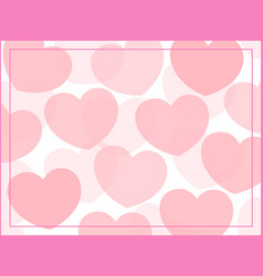 pink heart frame background vector image