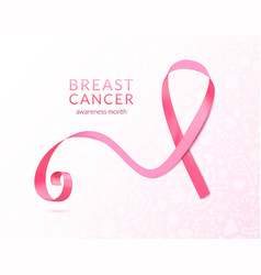 Pink ribbon banner vector