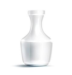 realistic transparent glass 3d flower vase vector image