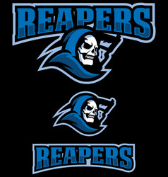 reapers mascot logo vector image