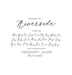 Riverside - handwritten script font vector