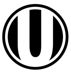 round u logo vector image