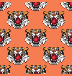 Seamless pattern of cartoon vector