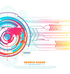 Search radar background vector