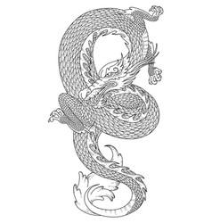 Serpentine dragon vector