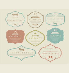 set vintage and retro badges vector image