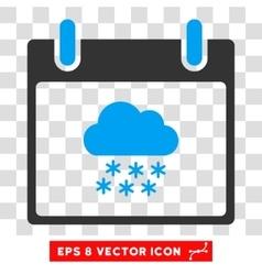 Snow Cloud Calendar Day Eps Icon vector image