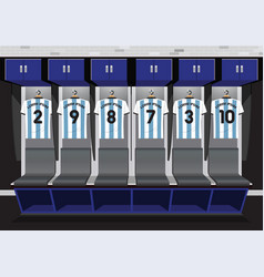 Soccer dressing rooms team football blue sport vector